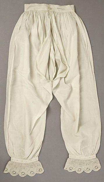 Drawers Date: 1840s Culture: American Medium: linen