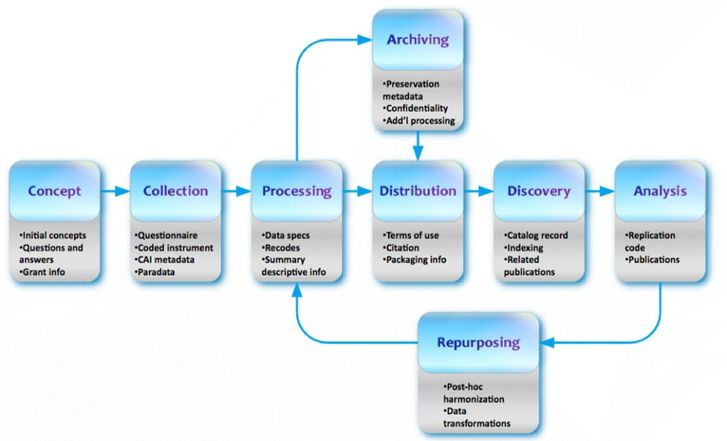 Data analysis flowchart illustrating process from preparation - data analysis