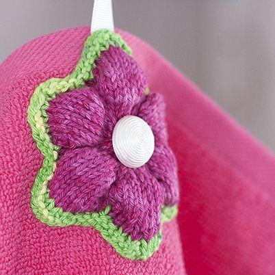 OHJE: Pyyhekukka. Flower towel. Pia Heilä, LANKAVA.