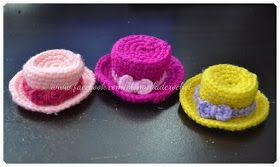 #Crochet ,Miniature Hat, free pattern, keychain, #haken, gratis patroon (Engels), sleutelhanger, hoed