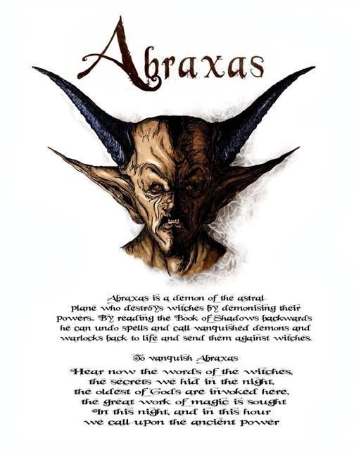 Charmed Series Book of Shadows: Abraxas » Metaphysic Study ...