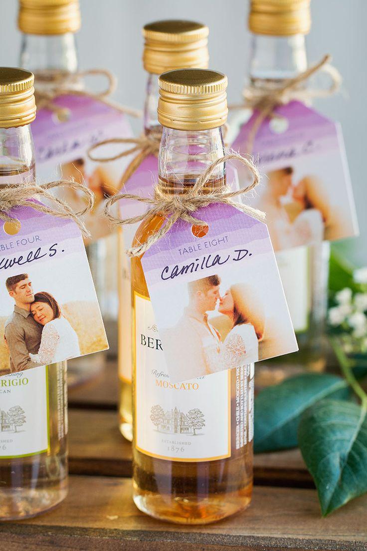 337 best wedding favor ideas images on pinterest bridal for Mini wine bottle wedding favors