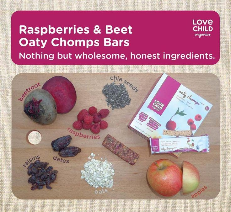 Have you tried our Raspberry and Beet Oaty Chomps? Our bars never contain sugar, syrups or fruit concentrate. Plus we only ever use organic ingredients, packed full of super foods.