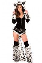 Deluxe White Tiger Romper Costume