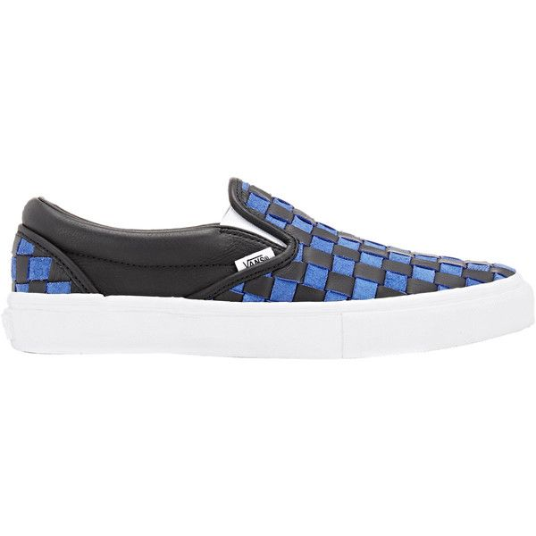 Vans Men's BNY Sole Series: Men's Woven Slip-On Sneakers ($165) ❤ liked on Polyvore featuring men's fashion, men's shoes, men's sneakers, blue, mens slip on shoes, mens blue slip on shoes, mens slip on sneakers, vans mens shoes and mens sneakers