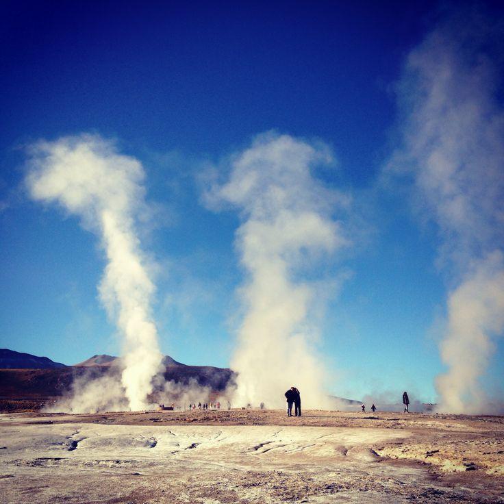 Gysers. San Pedro de Atacama. Chile #landcsape