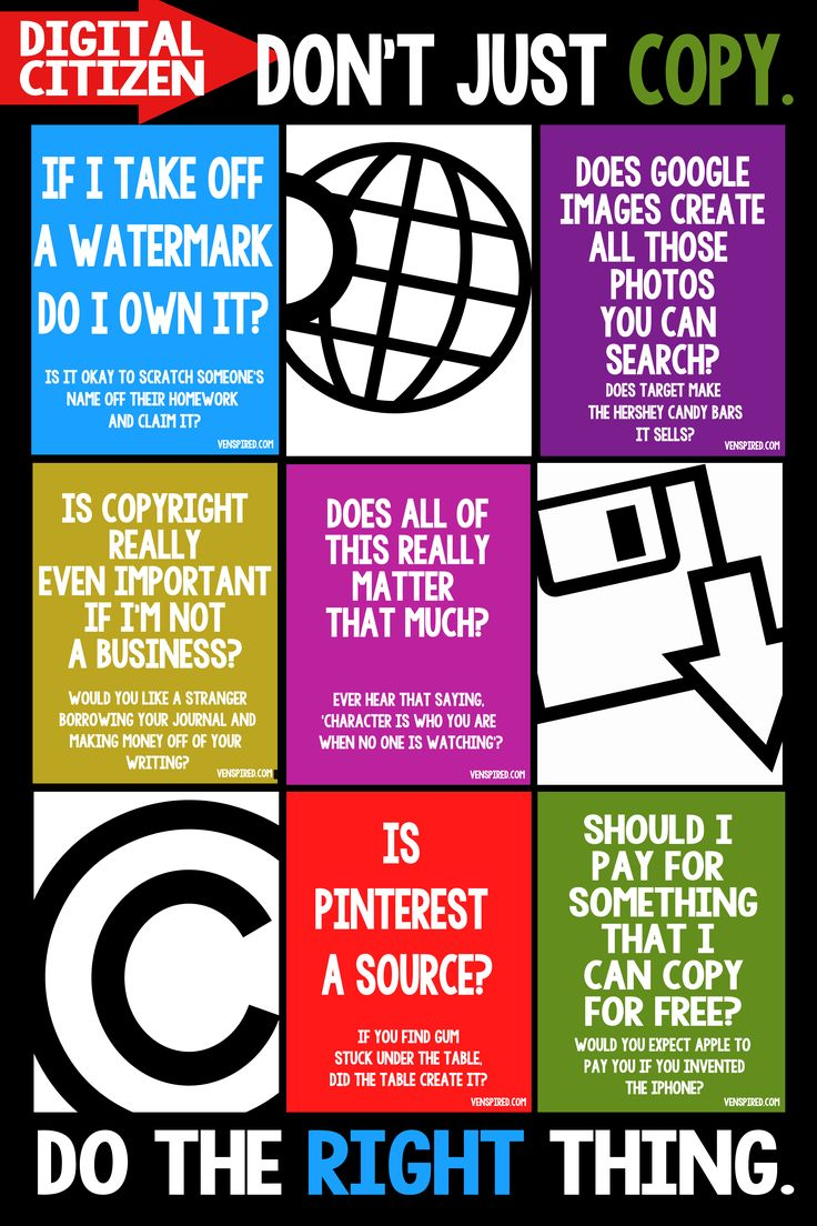 Poster design lesson plan - Don T Just Copy Do The Right Thing