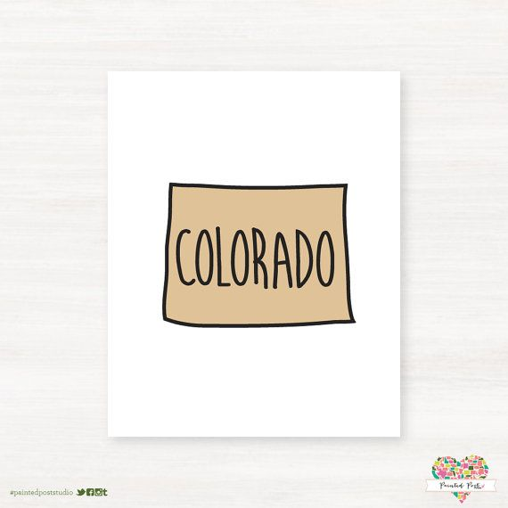 University of Colorado Bolder - Buffalos - Colorado Typography State Giclée Map Art by PaintedPost