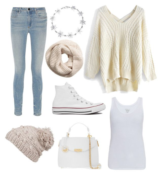 """starting winter"" by valen247 on Polyvore featuring Chicwish, Majestic, Alexander Wang, prAna, Bling Jewelry, H&M, Versace and Converse"