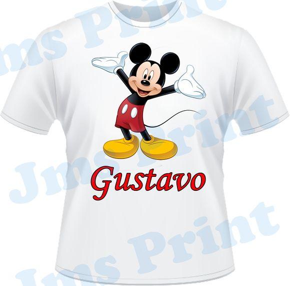 Camisa Personalizada com Tema Mickey