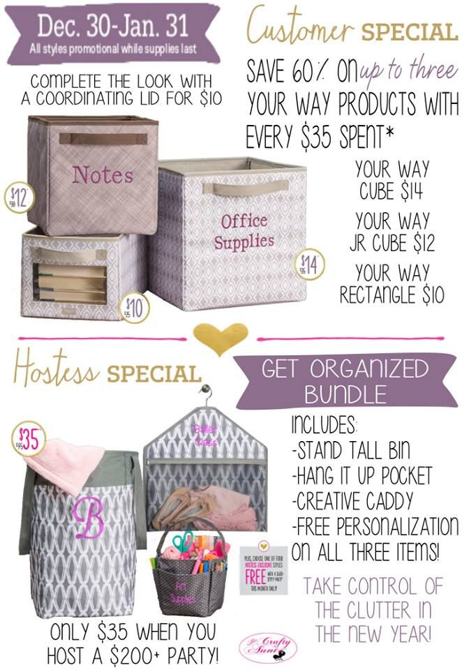 Great hostess & customer specials www.JenOrganizing.com