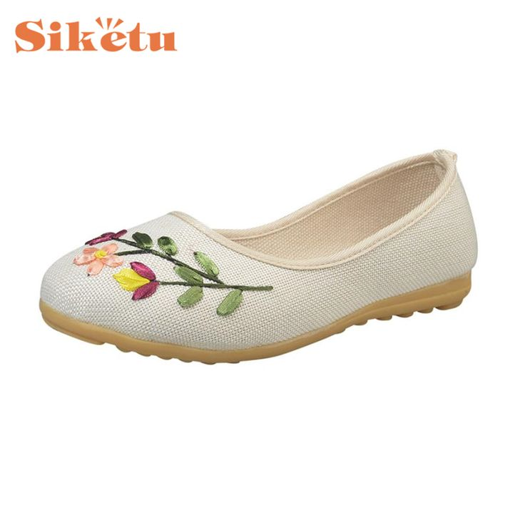 Cheap slipper shoes, Buy Quality shoes slippers directly from China women shoes slipper Suppliers: Sandals Slipper Shoes Vintage Embroidered Women Flower Slip Fabric Linen Comfortable Flat Shoes Chinelos Zapatilla 17Apr26
