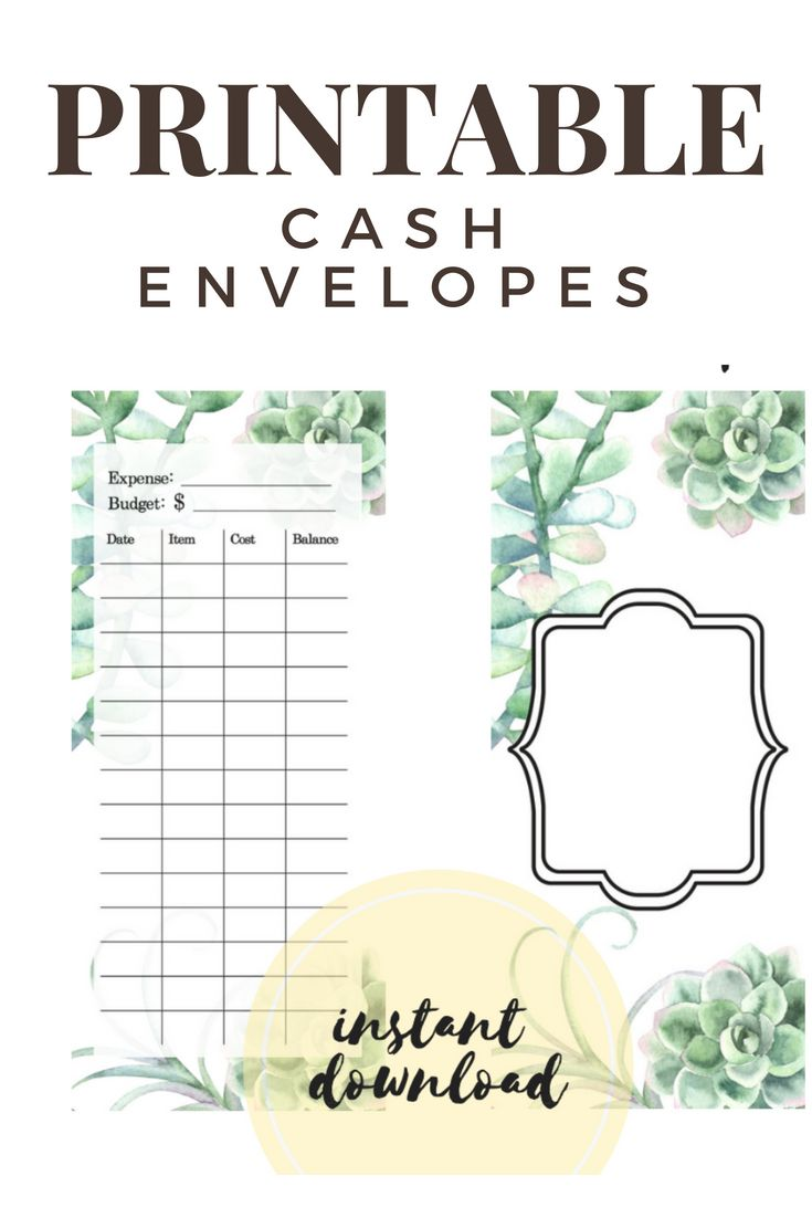 It is a graphic of Trust Free Printable Cash Envelopes