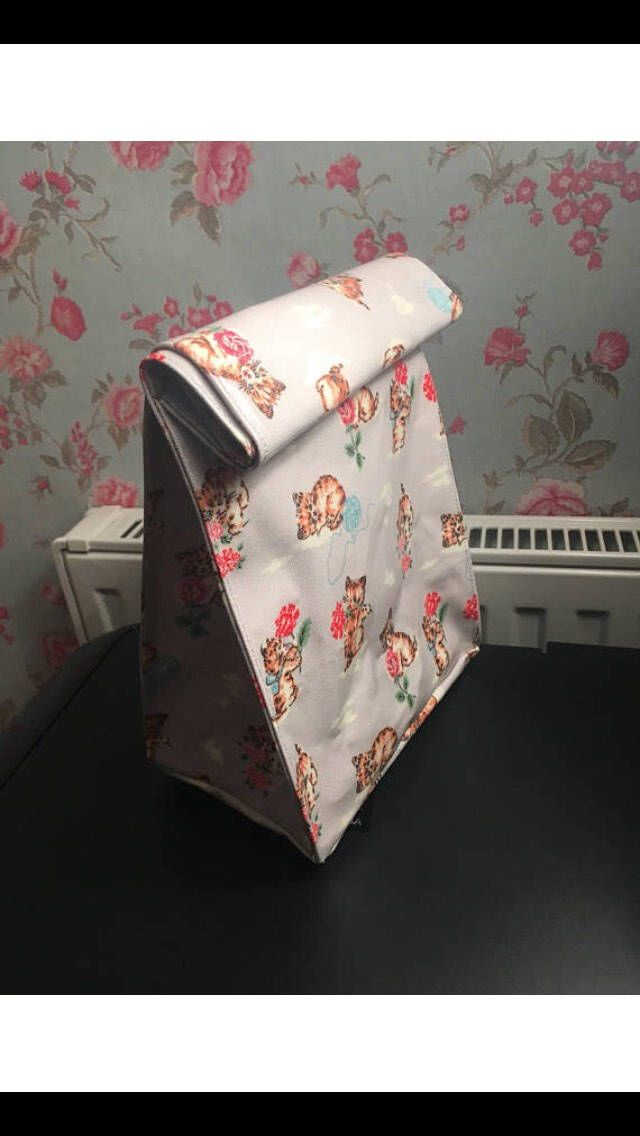 A personal favourite from my Etsy shop https://www.etsy.com/uk/listing/575537830/lunch-bag-made-in-cath-kidston-cat-and