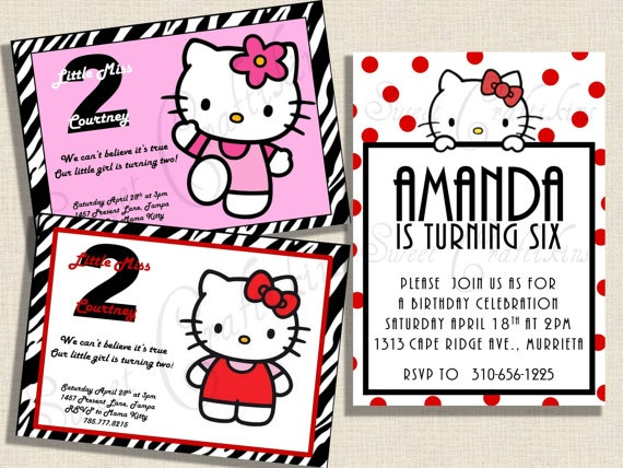 DIY Printable  Inspired by Hello Kitty  Happy by sweetcraftikins, $10.00