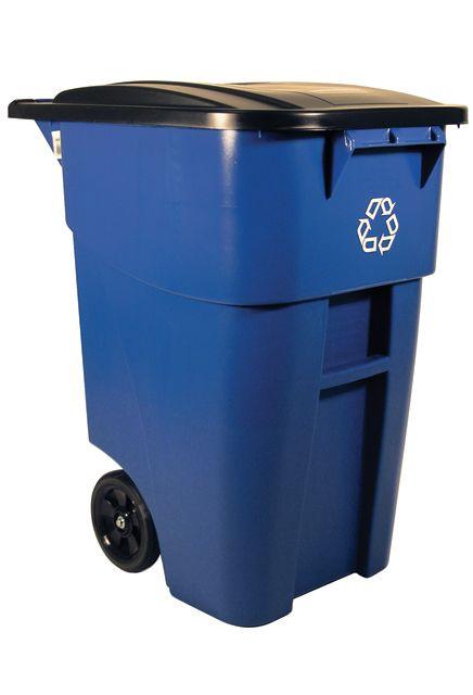 Poubelle Sur Roue Pour Le Recyclage Avec Couvercle