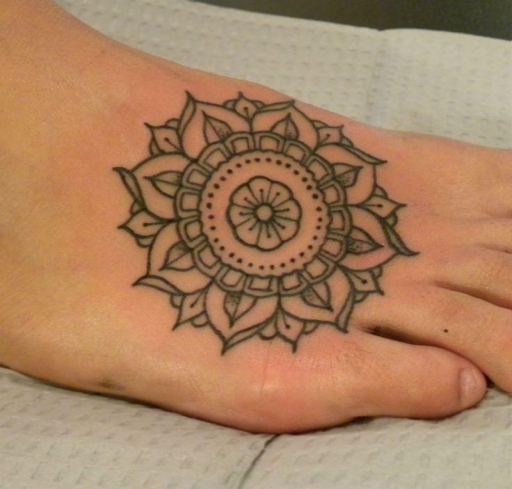 Beautiful Mandala Feet Tattoo