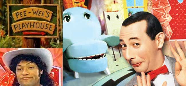 PEE-WEE'S PLAYHOUSE (1986-1990, CBS, USA; theme by George McGrath, Mark Mothersbaugh & Paul Reubens) One of the strangest themes to one of the strangest shows in the history of children's television. I love it. (KevinR@Ky)