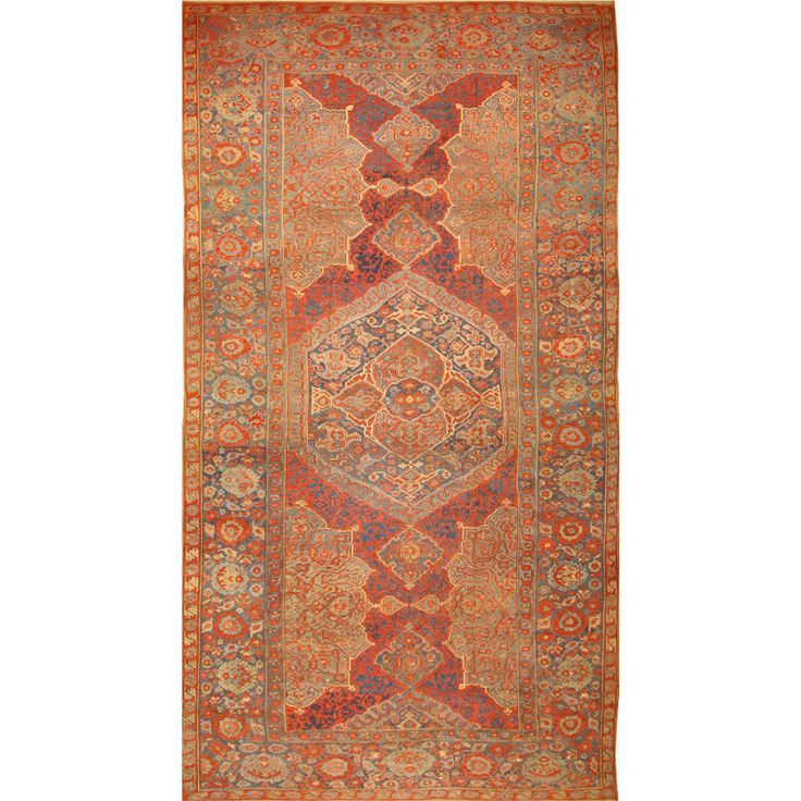 Antique Eighteenth Century Oushak | From a unique collection of antique and modern turkish rugs at http://www.1stdibs.com/furniture/rugs-carpets/turkish-rugs/