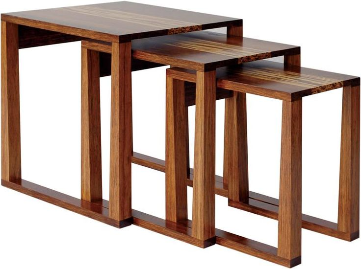 Greenington Exotic Bamboo Magnolia Nesting Table Greenington Collection The Greenington Magnolia Bamboo Nesting Table, which is made by contemporary design that uses modern materials and constru