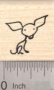 Chihuahua Rubber Stamp, Stick Figure Dog  A21222 WM