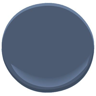 """Benjamin Moore Kensington Blue 840 for """"formal dining room"""" (study / lounge). Goes great with BM-839 """"Old Blue Jeans"""""""