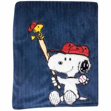 Lambs & Ivy Team Snoopy Blanket