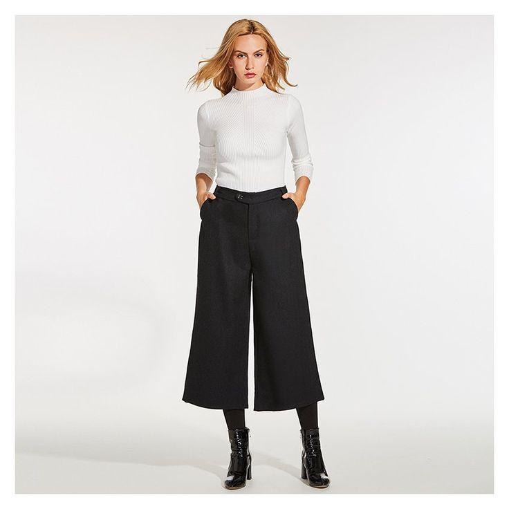 Compra Loose Wool Blends Pantalones Anchos De Pierna Ancha online ✓ Encuentra los mejores productos Falda pantalon mujer Generic en Linio México ✓