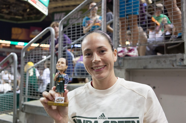 Sue with her bobblehead!