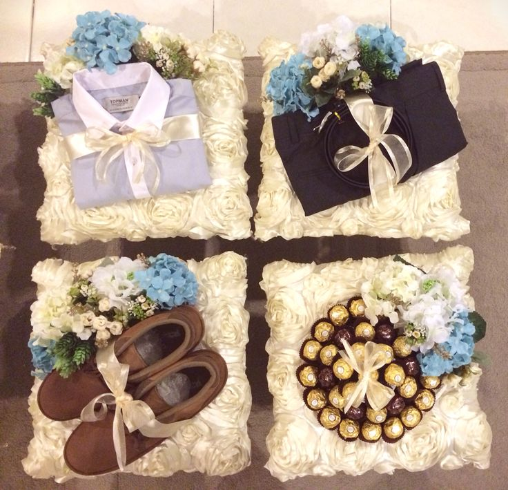 Hantaran - Cream & Blue colour make a perfect combination