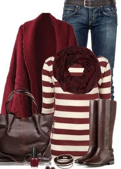 love the mixing of reds together in this look