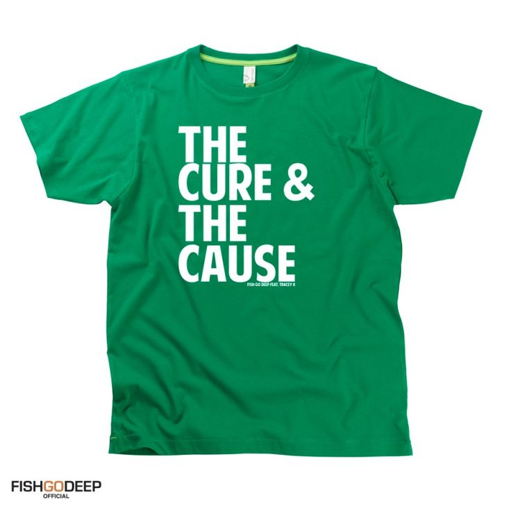 The Cure And The Cause Adult Fish Go Deep T-Shirt by Hairy Baby