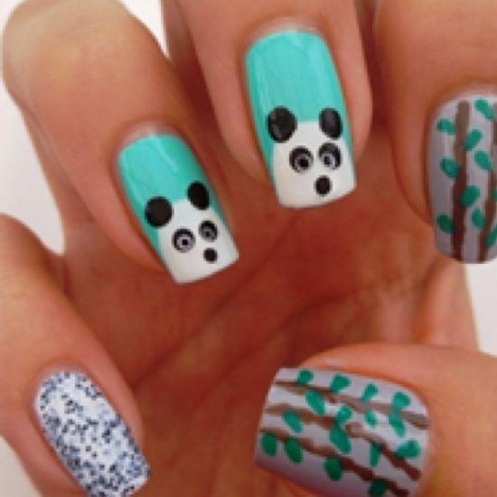 Best 25 panda nail art ideas on pinterest panda bear nails how to create panda nail art via guidecentral diy crafts visit www prinsesfo Image collections