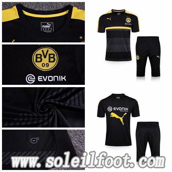 T-Shirts Foot Dortmund BVB + Pantalon 3/4 Noir Saison 16 17 Offre Pas Cher
