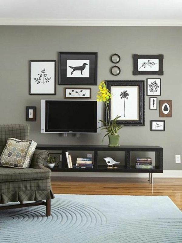 25+ Best Ideas About Tv Wand Wohnzimmer On Pinterest | Tv Wand Do ... Fernseher Wand Deko