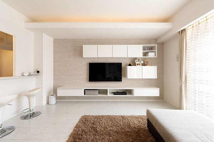 M021 シンプルモダン広々リビング | 施工事例 | 住宅 リフォームのアートリフォーム