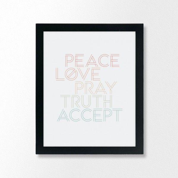 5 Words - In One Peace - Modern Islamic Art