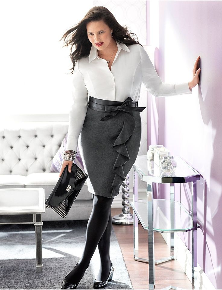 Many of these high profile professional women are plus size. They know they are beautiful and a slim body is not a mark of attractiveness. Intelligent is the new sexy and with the right professional clothes that accentuate the beauty and the curves of these plus size ladies add to their sex appeal.