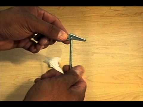 How to install a ceiling hook for hanging household plants and other hanging objects - YouTube