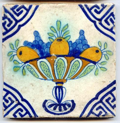 Tile. Bowl of fruit.