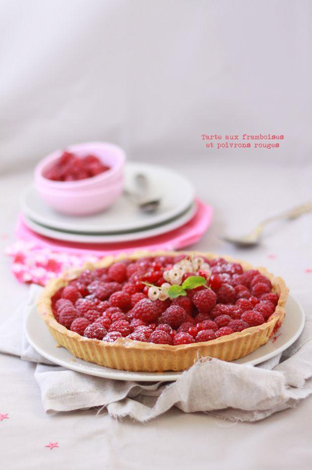 Tarte framboises / poivrons rouges Tart raspberry / red peppers