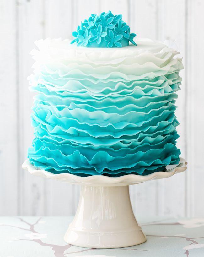 Wonderful Stylish Ombre Wedding Cake