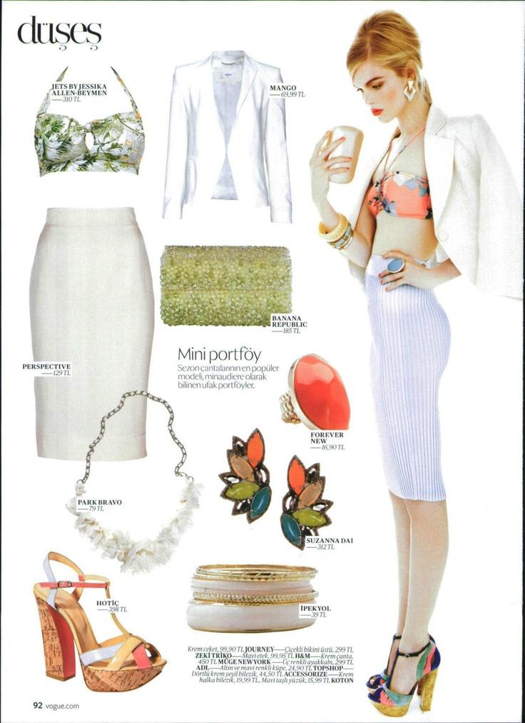 Zeki Triko Vogue Temmuz 2012 sayısında!   Zeki Triko bikini üstleriyle şehirde de tarz yaratabilirsiniz!