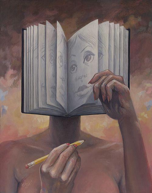 Face book / Cara libro (ilustración de Aaron Jasinki)
