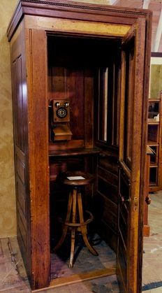 Lot: 111: Oak Double Wall Bell Public Telephone Booth, Lot Number: 0111, Starting Bid: $750, Auctioneer: Cagle Auction Co., Auction: Labor Day Gallery Auction, Date: September 5th, 2011 PDT