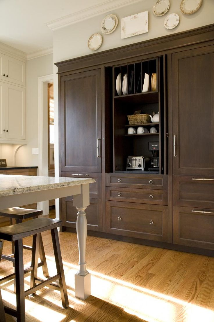 Built In Coffee Small Appliance Station Kitchen Ideas