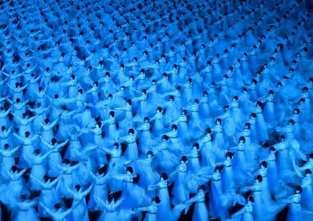 Mass Games Arirang in May Day Stadium - Pyongyang North Korea by Eric Lafforgue, via Flickr