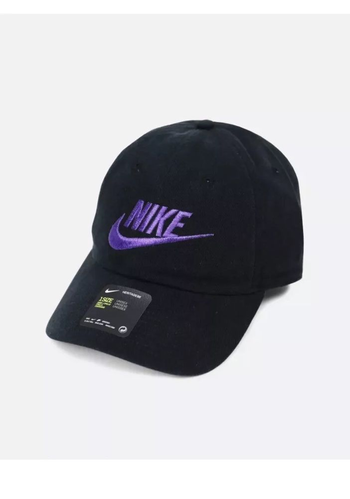 7121189a3 NIKE FUTURA WASHED H86 BLACK Court PURPLE 626305-015 UNISEX Dad Hat ...