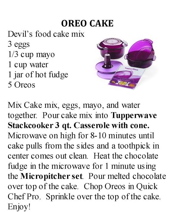 Oreo cake in the microwave !