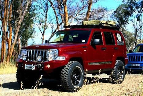 Raised nice Jeep Liberty...